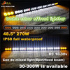 270W offroad led light bar IP68 offroad driving lightbar for SUV, 4X4,Atv, truck cars