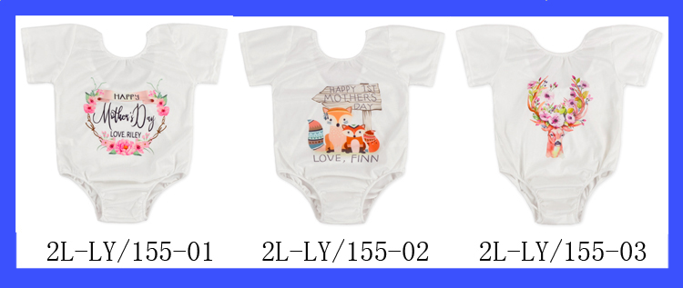 Custom Plain Baby Romper Short Sleeve Cotton/Polyester Jumpsuit 0-6 Years Old clothes Soft Baby Cotton Romper
