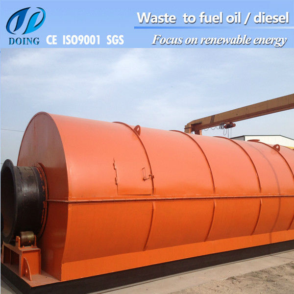 useing oil distillation machine to get clean engine oil from waste fuel oil