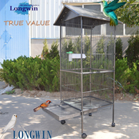 2015 low price top quality decorative metel wire mesh pet product parrot cage cages