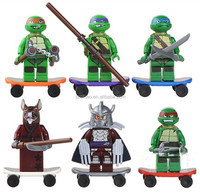 DIHAO mini ninja Plastic building blocks toys,ninja turtle custom building blocks toys,children plastic building blocks