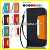 "Plain Color Luxury Handbag Hot Selling Wallet Case for iPhone 5"" Leather Case Card Slot/Holder Lanyard Magnetic Metal Wholesale"