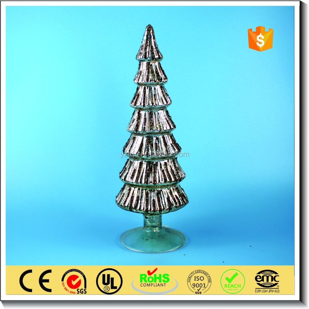 Indoor christmas glass tree for christmas party decoration