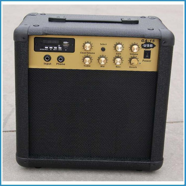 "15 watts 6.5"" guitar speaker USB guitar amplifiers, mini guitar amp, acoustic guitar amplifier USB player"