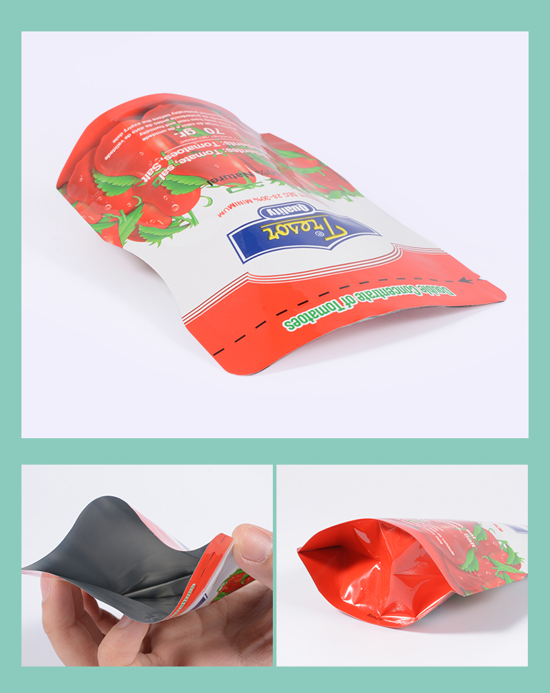 Plastic Food Packing Pouch Standing Heat Seal Foil Bags With Printed Logo