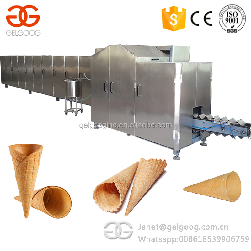 Automatic Rolled Ice Cream Sugar Cone Baking Machine