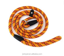 Colorful pet dog whisperer slip training Nylon leash lead collar