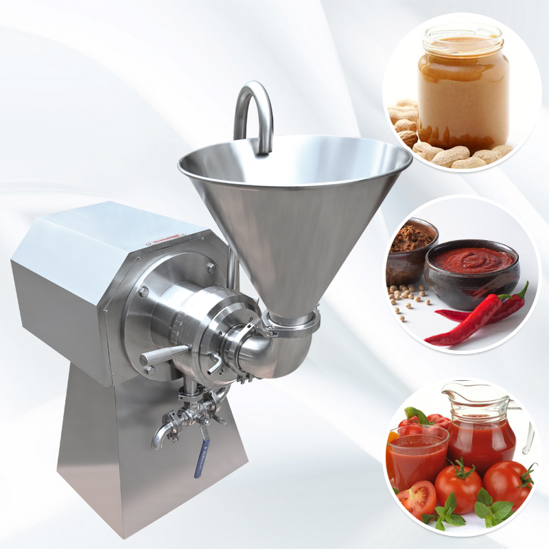 Lab pharmaceutical emulsion colloid mill,peanut butter making machine chili sauce grinding machine