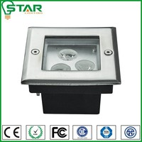 304 stainless steel aluminum ip67 3woutdoor square led recessed light