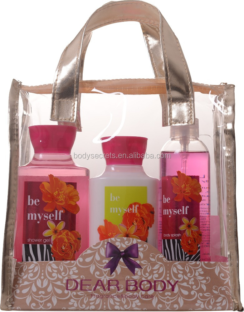 Dear Body women Bath and body care products Spa gift sets with PVC hand bags for Christmas