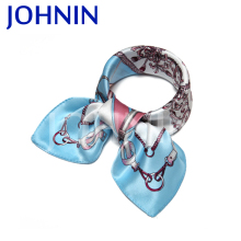 digital printing silk satin polyester lady summer square satin scarf