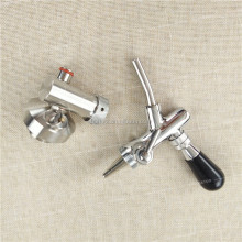 Stainless Steel 304 Flow Control Beer Faucet With mini keg