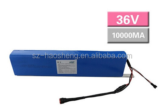 Hot Sell 18650 Li Ion Battery 36v 10Ah Electric Bike Akku with Charger