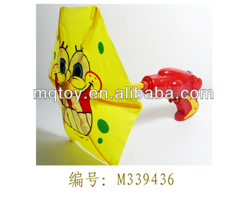 Novelty 29.5Cm plastic cartoon umbrella water gun gun toy new product china manufacturer made in china summer toy