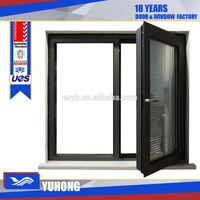 Factory wholesale bottom price Aluminum casement internal blinds window with