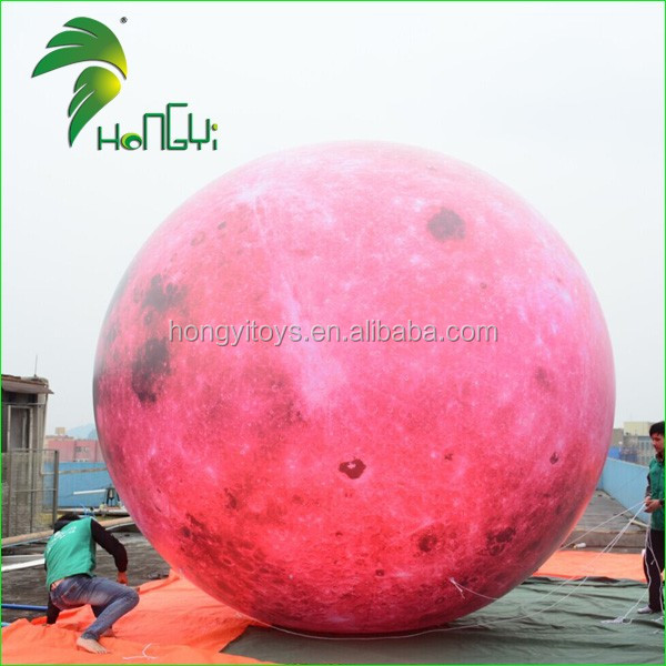 18 ft Giant Inflatable Moon Helium Balloon for Decoration