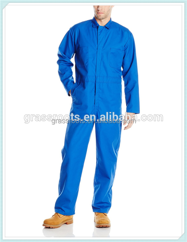 2016 Guangzhou Cheap safety coverall /workwear uniforms / blue cotton working coverall