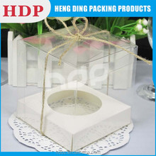 customized food grade plastic box for cupcake