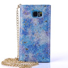 With neck strap Phone Leather case for Samsuang galaxy S6