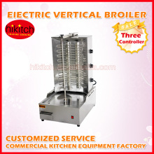 Electric turkey style 3 burners electric shawarma automatic kebab broiler