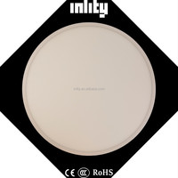 ultra thin 600mm recessed circle panel light 48W for office high quality