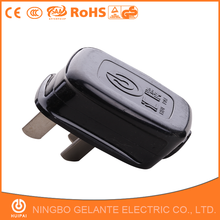 Made in ningbo factory super quality 220v to 110v plug 3 pin plug adapter