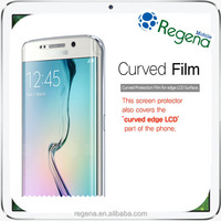 Curved Screen Full Cover Film HD Clear Tempered Glass Screen Protector for Galaxy S6 Edge