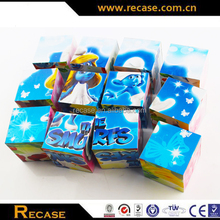 Paper cube puzzle plastic advertising custom 3d cubes