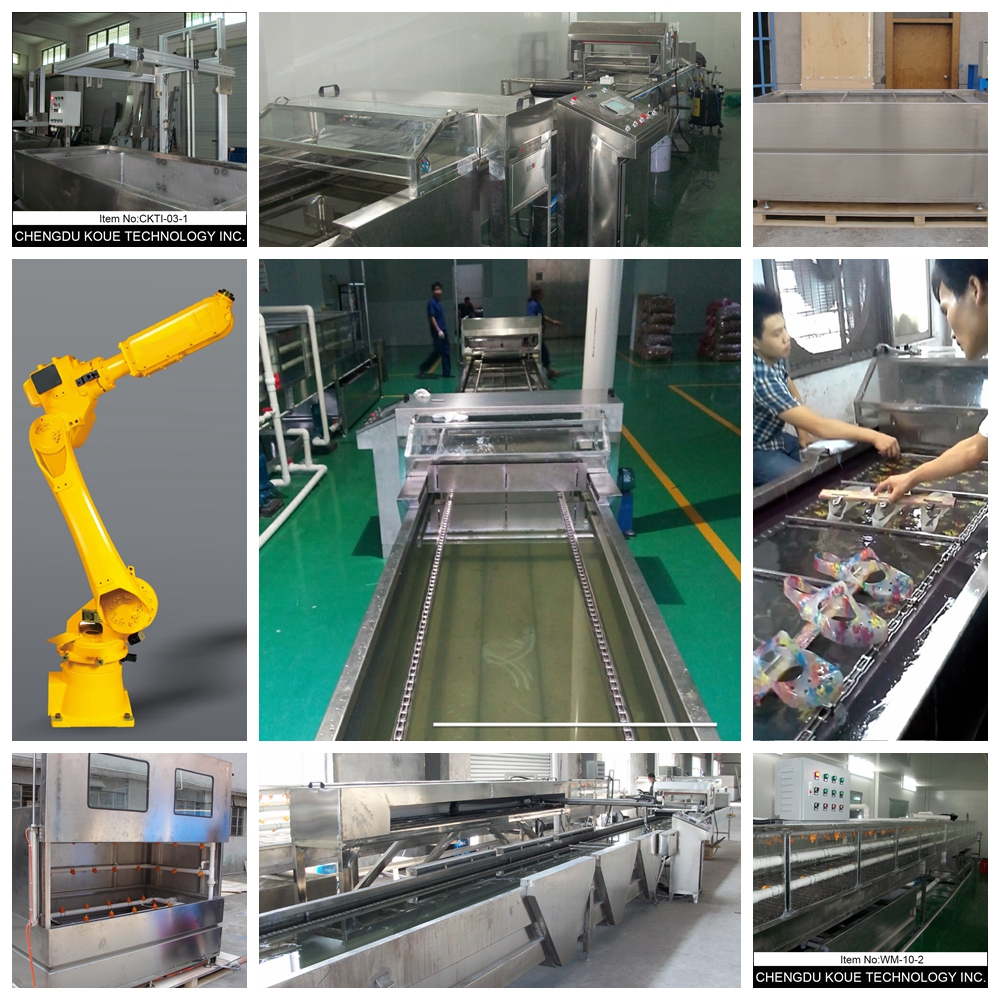 L6m Tunnel Washing Conveyer for Water Transfer Printing Machine,Hydrographic Printing Machine Dipping Tank and Aqua Printer