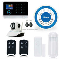 YB103 WIFI House Security Devices wireless siren wireless zones app control GSM alarm system