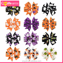 New arrival Wholesale 2017 hot sale hair bows middle size ribbon bow tie fabric hair clip for beauty kids