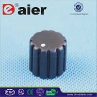 Daier KN-034 black 18 teeth 6mm potentiometer knurled plastic knob