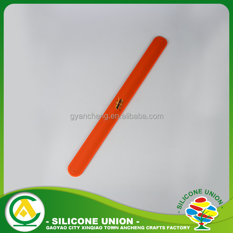 25mm double sided non-slip rubber silicone slap wrist band ruler