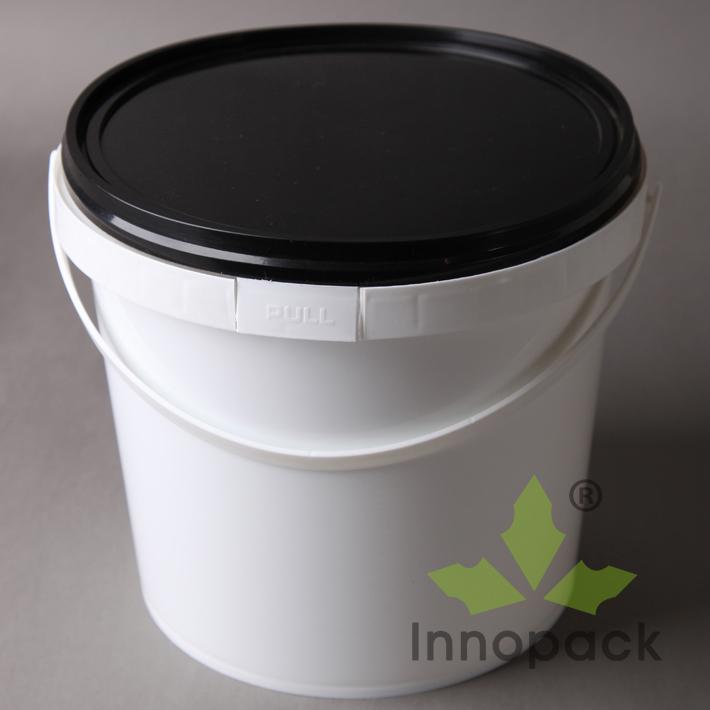 5l transparente und klare plastikeimer mit deckel trommel. Black Bedroom Furniture Sets. Home Design Ideas
