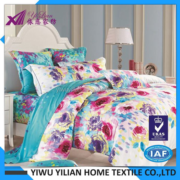New product attractive style bed sheet set cotton factory with many colors
