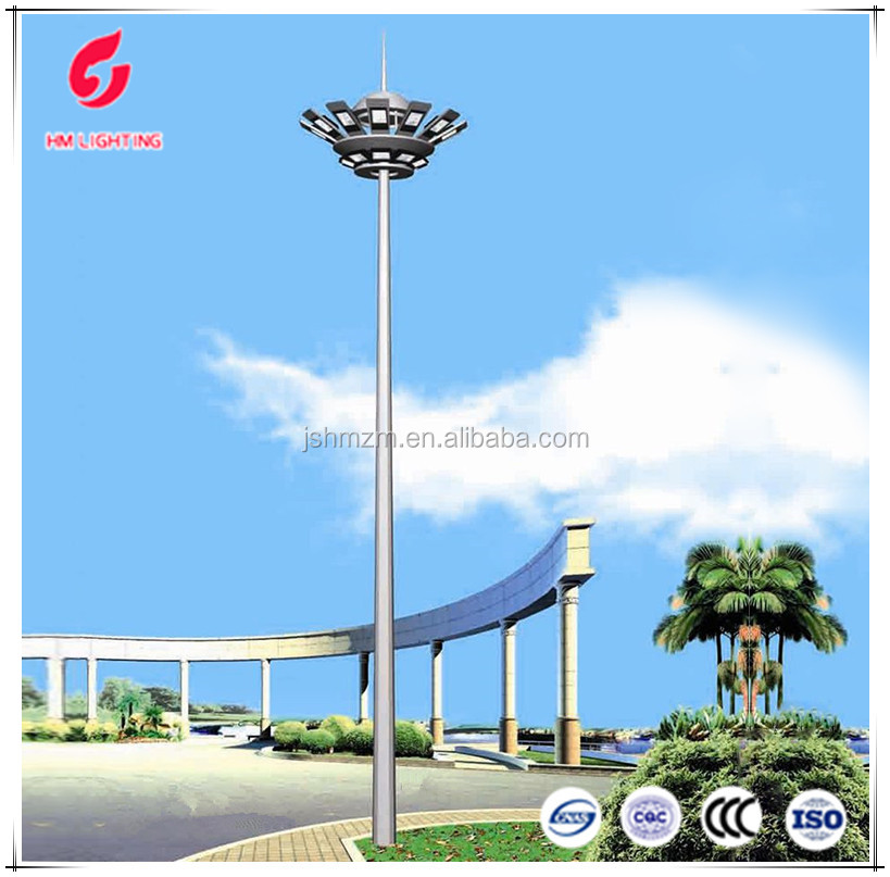 Modern galvanized steel electric high mast lighting poles