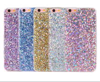 For iphone 7 case Soft TPU Mobile Phone Case Diamond Bling Glitter Powder TPU Phone Cases for iPhone 8 7 7 plus