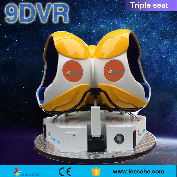 Powerful 9d Egg Chair electric system with high tech virtual reality helmet 9d Vr cinema