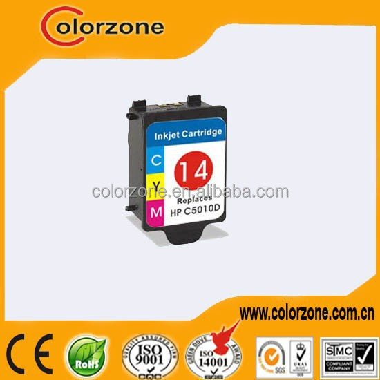Best price High quality compatible 5010/5011 ink cartridges for hp 14