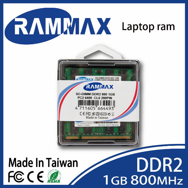 RamMaxdual channel DDR2 800 MHz 1GB PC2 6400 So dimm 128x8x8c Laptop memory module memoria ram in KST package
