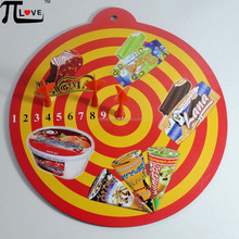 ice cream advertising gifts safety dartboard with 3 darts