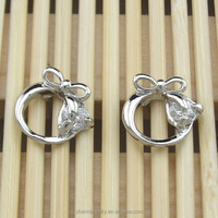 Wholesale jewelry CZ stud earrings cheap cute ear stud for lady EST-048