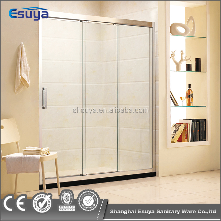 Bathroom use simple design triple sliding shower door elegant sliding shower screen