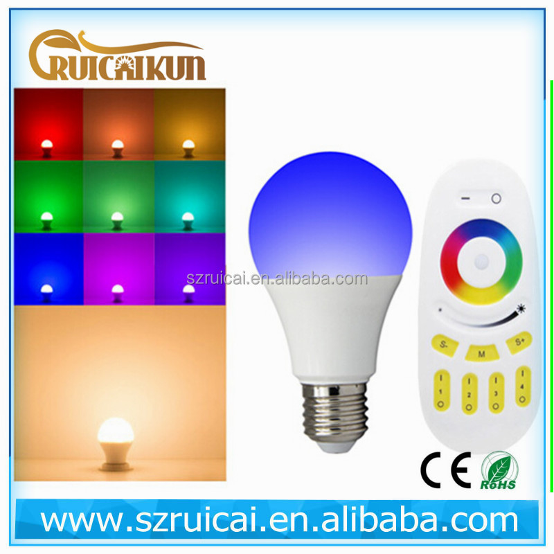 6w bulb milight wifi control and remote control e27 RGBW AND RGBWW bulb light for your option