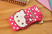 2016 phone cover printing Hello kitty silicon skin Cartoon cell phone case for mobile phone cover