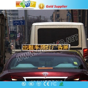 high resolution full color outdoor xxx video screen led taxi top advertising sign led car window display