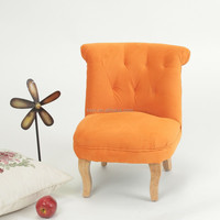 Wooden Antique Baby Fabric Chair Set