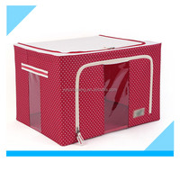 Polka Dot Pattern Fabric Folding Living Box with Stainless Steel Supports