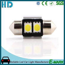 Factory price error free car canbus led c5w 5050smd 31mm 2 smd 5050 festoon led interior bulb