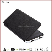 Mini solar charger made in China solar mobile phone charger with LED light 1000mAh portable cell phone solar charger